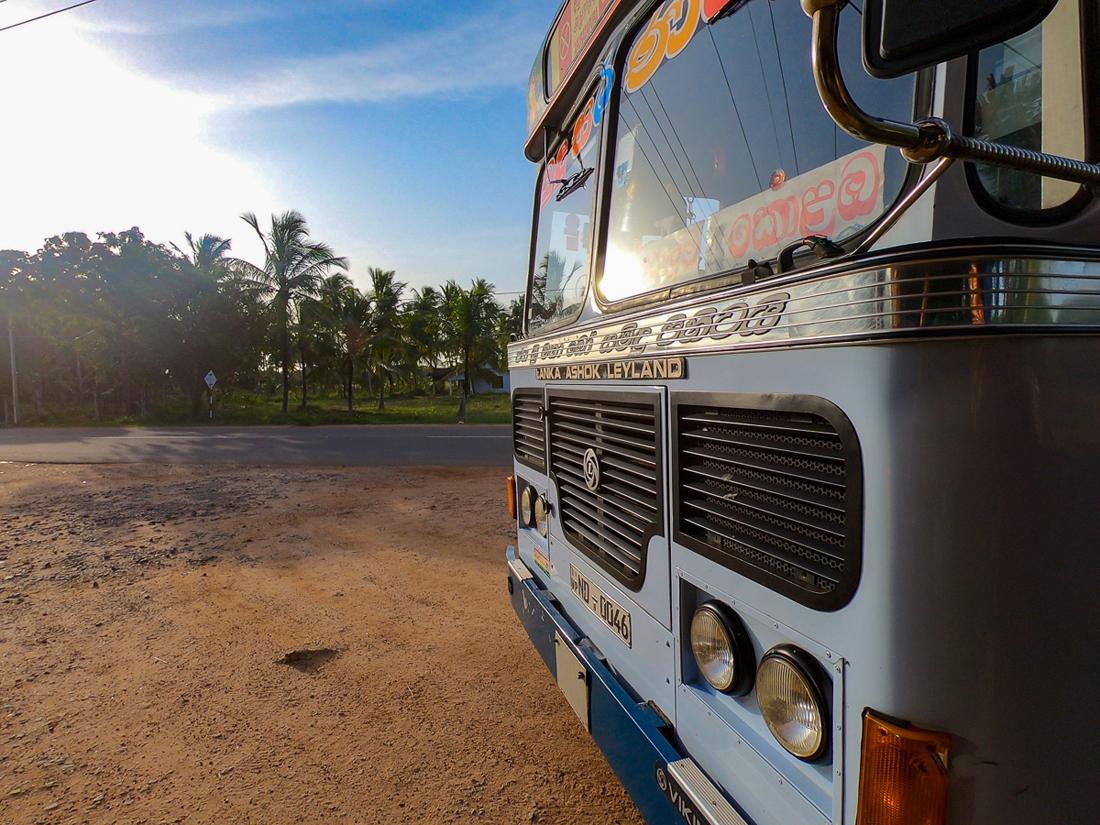 Sri Lanka Kandakuli Kalpitiya Bus Trajet