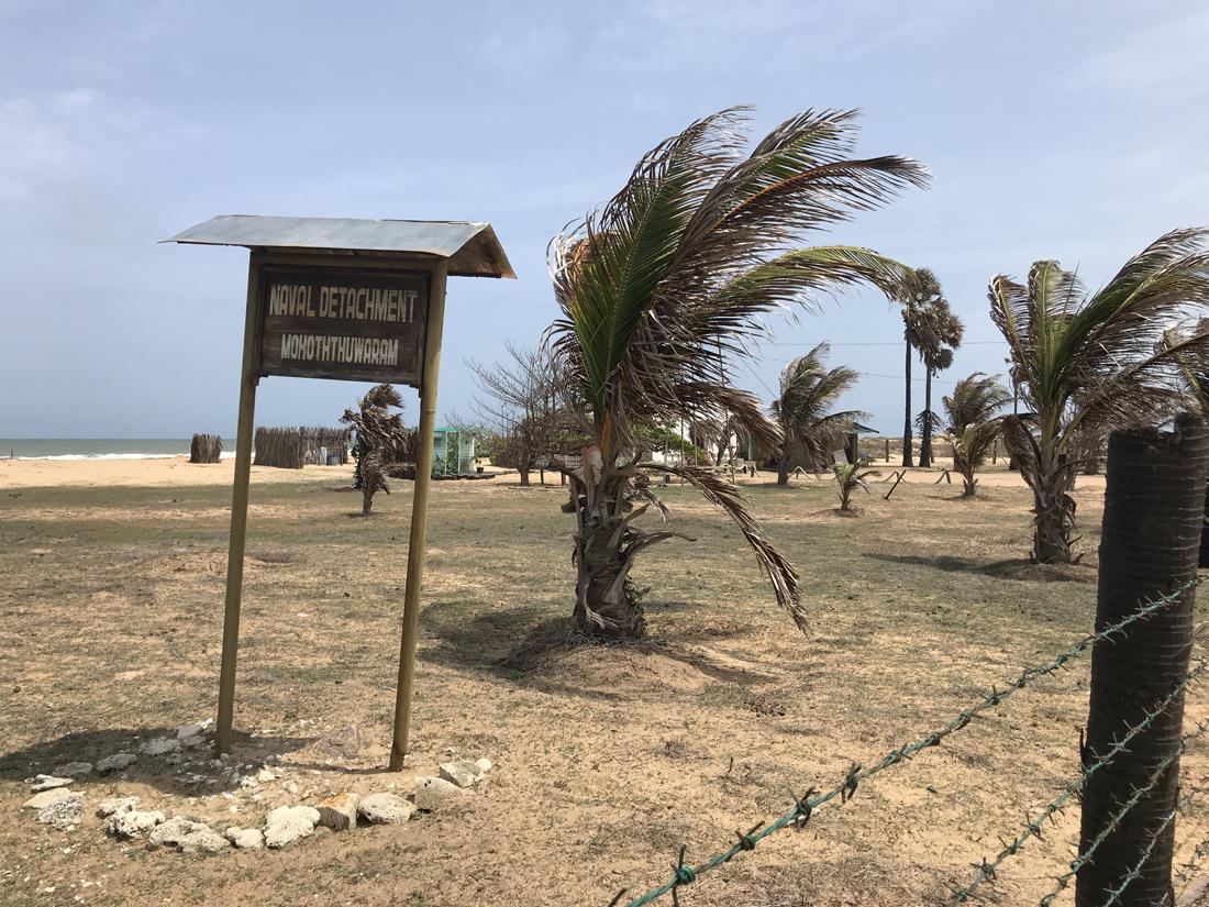 Sri Lanka Kalpitiya Kandakuli Plage Base Armée