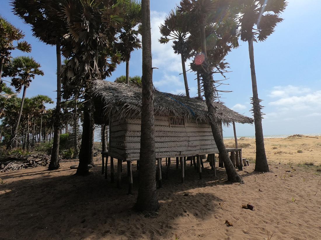 Sri Lanka Kalpitiya Kandakuli Plage Cabane