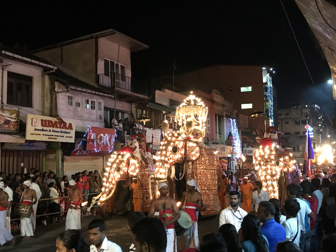 Sri Lanka Kandy Fête Esala Perahera Elephant Cérémonie Feu Danseurs Relique