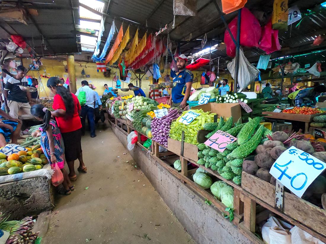 Sri Lanka Kandy Marché Légumes Epices
