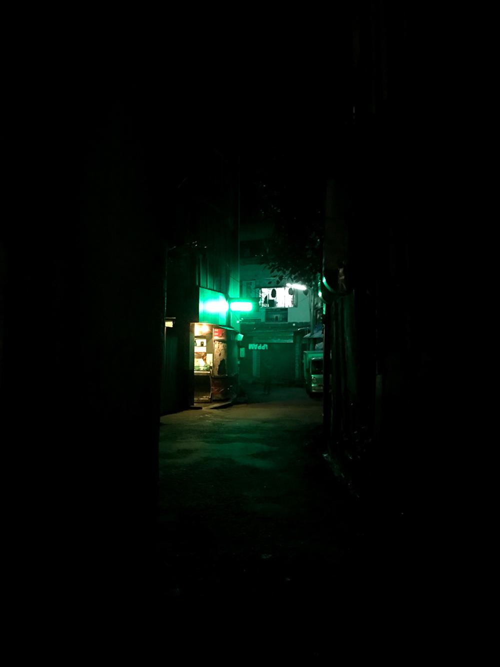 Sri Lanka Kandy Rue Nuit Lumière