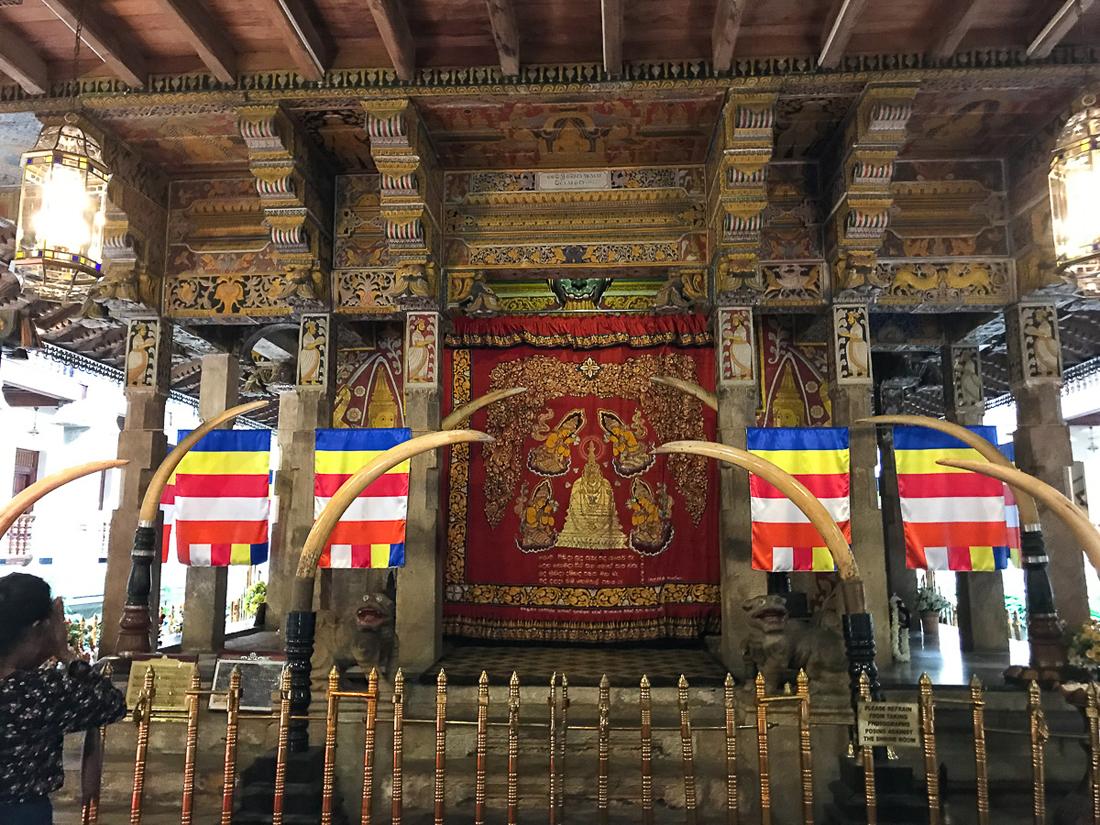 Sri Lanka Kandy Temple de la dent Eléphant Mausolée Relique Bouddha