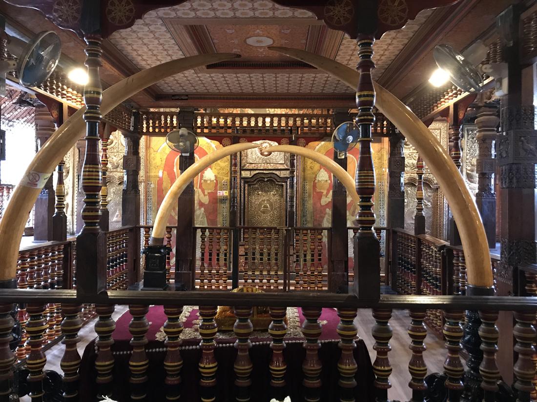 Sri Lanka Kandy Temple de la dent Mausolée Relique Bouddha