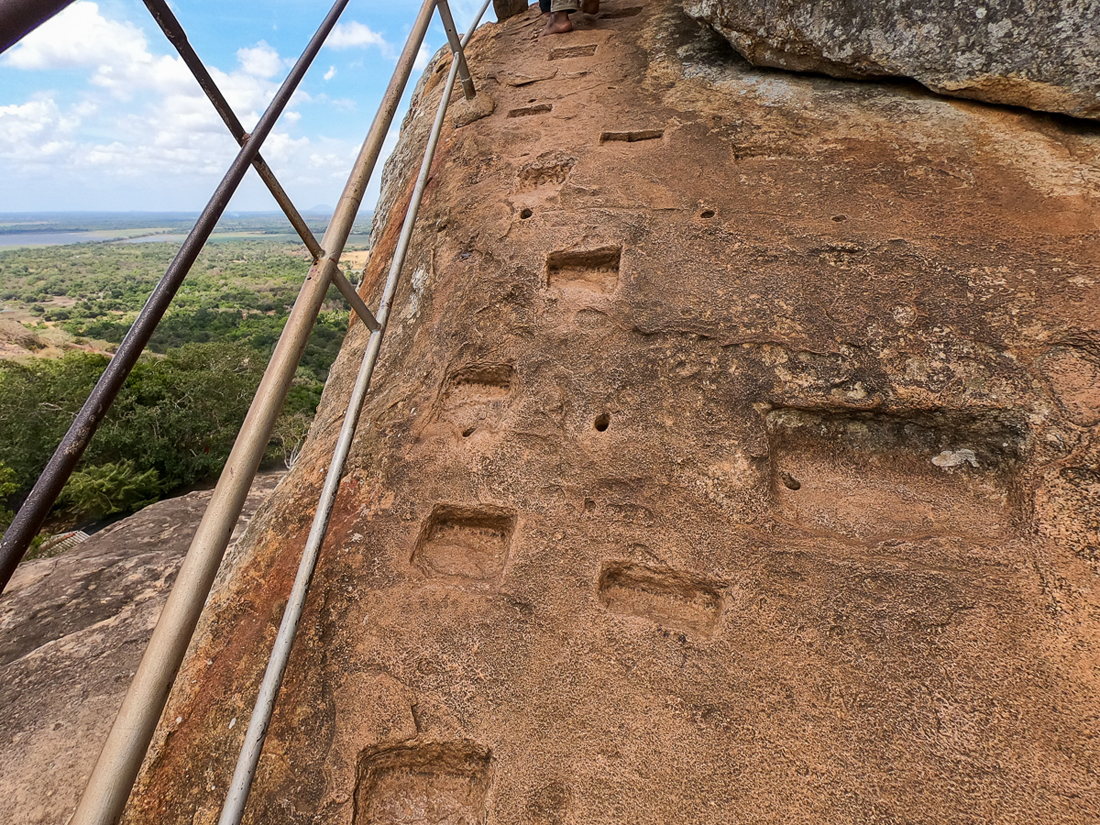 Sri Lanka Mihintale Escalier roche