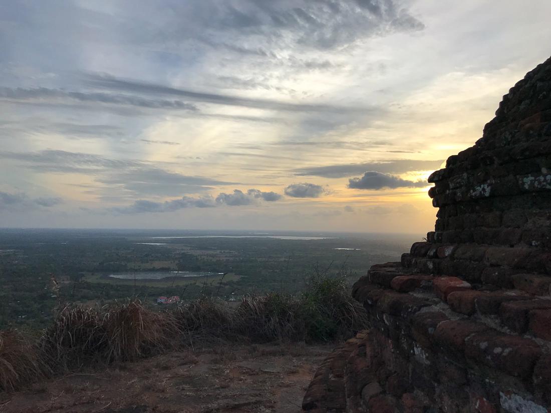 Sri Lanka Mihintale Eth Vehera Stupa Sunset