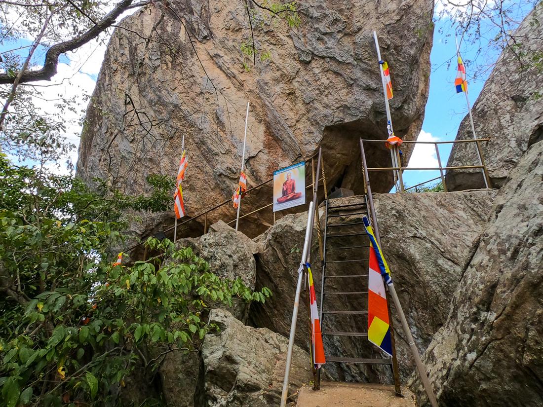 Sri Lanka Mihintale Grotte de Mahinda