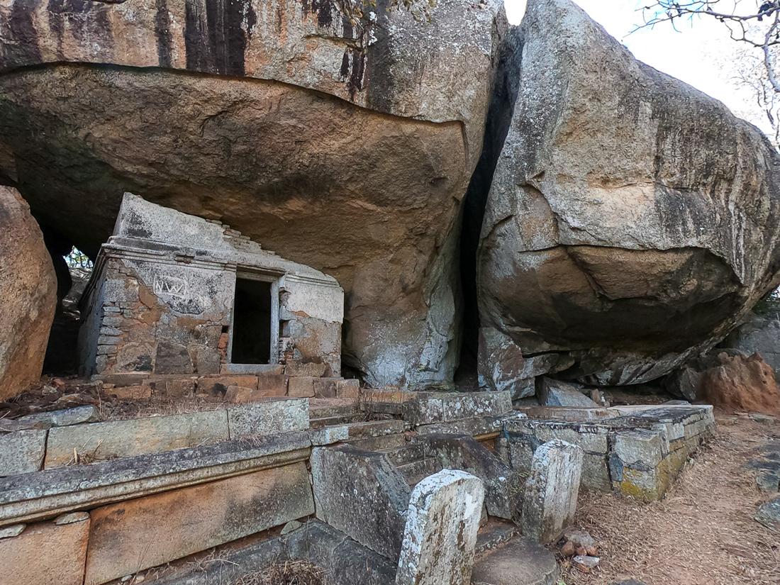 Sri Lanka Mihintale Rajagiri Ruine Cave