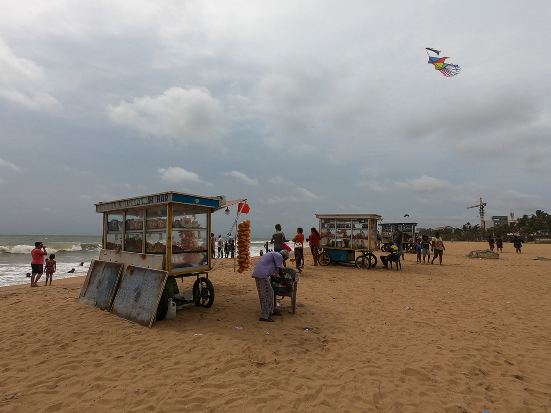 Sri Lanka Negombo Plage Food Truck