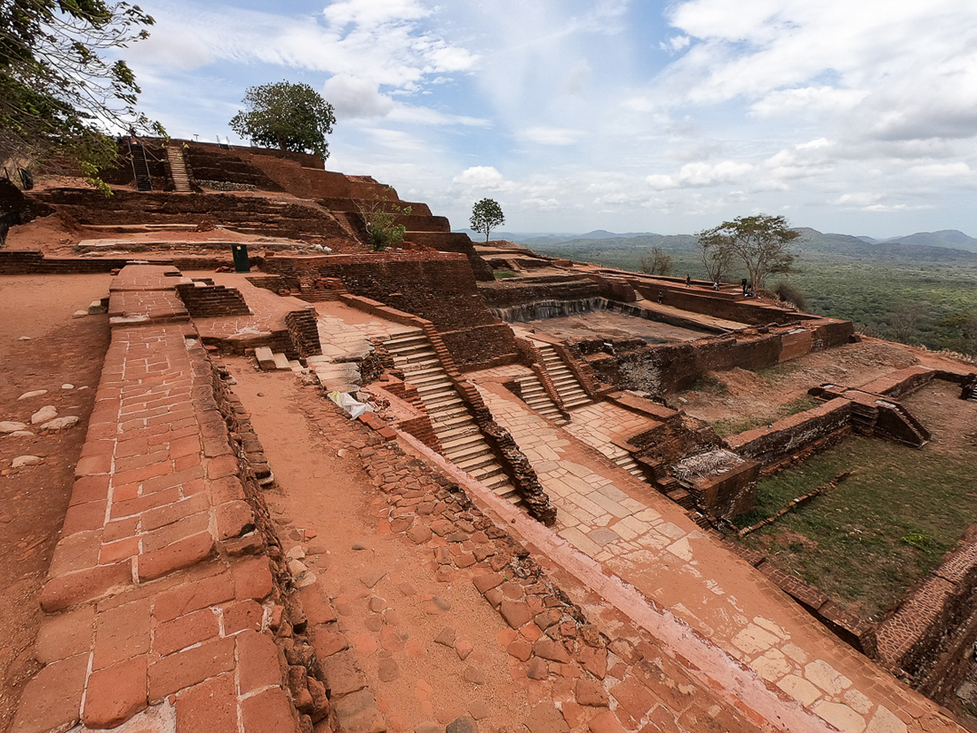 Sri Lanka Sigiriya Lion Rock Palais Ruines