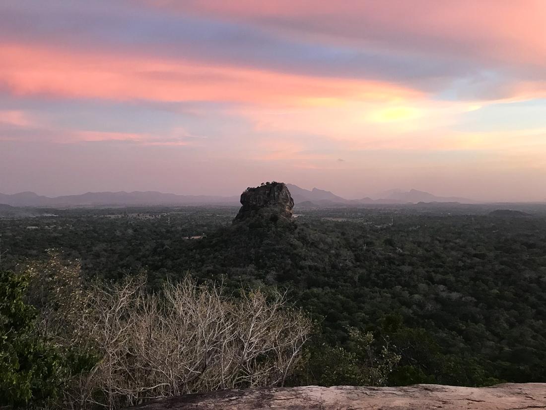 Sri Lanka Sigiriya Lion Rock Coucher de soleil Sunset