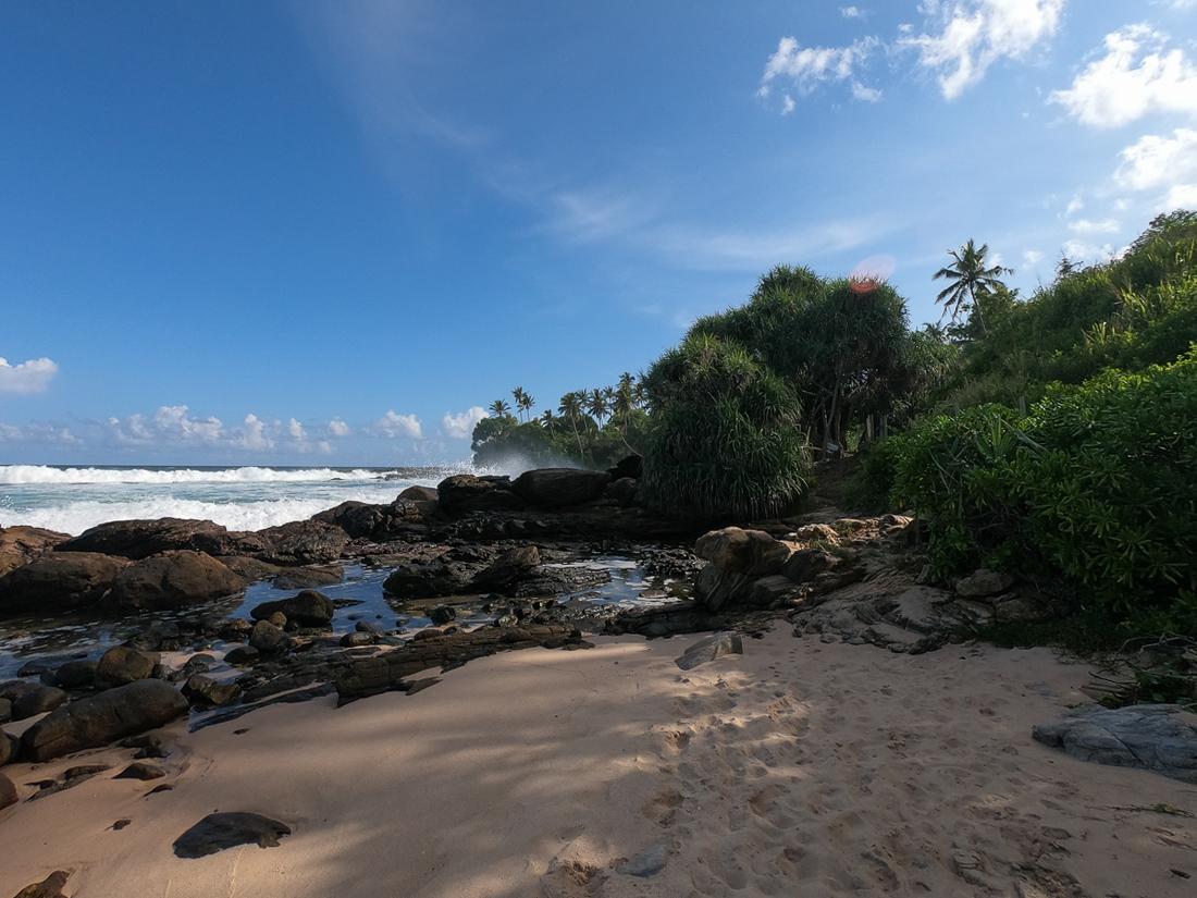 Sri Lanka Goyambokka Tangalle Plage Palmier Ocean