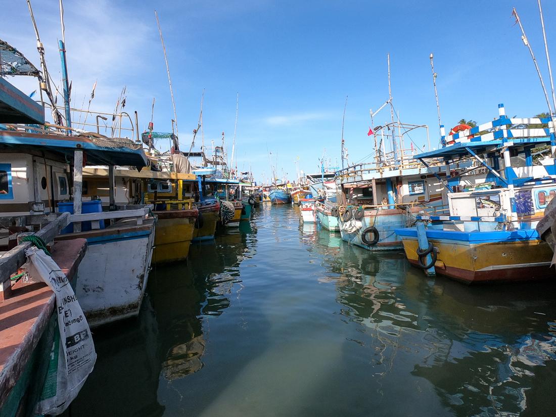 Sri Lanka Tangalle Port Bateau