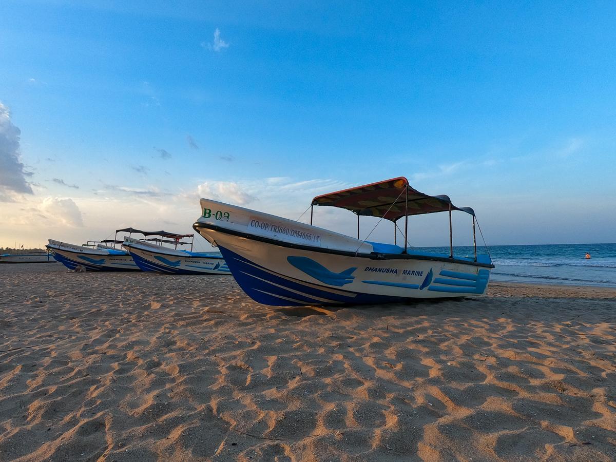 Sri Lanka Trincomalee Nilaveli Bateau Plage