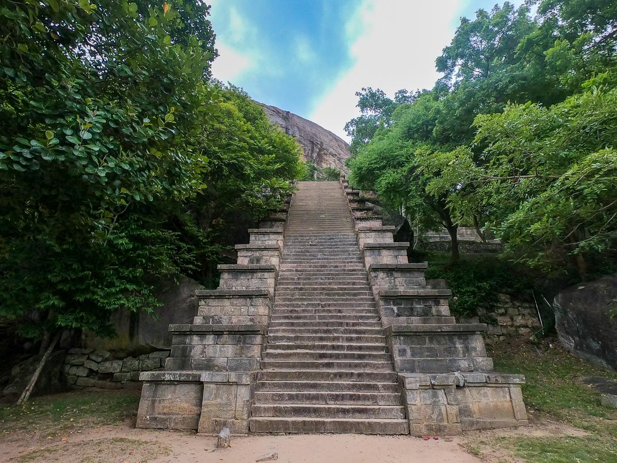 Sri Lanka Yapahuwa Escalier