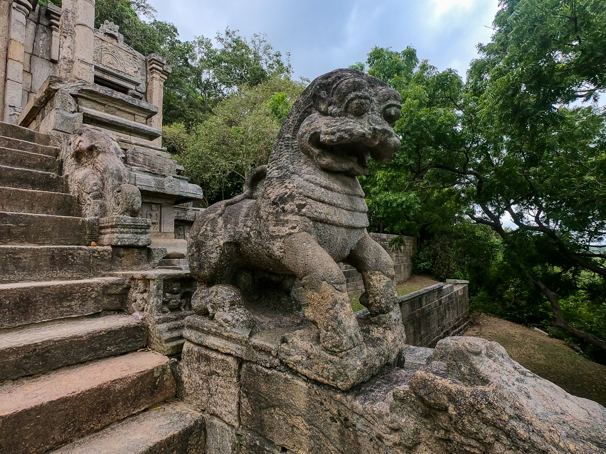 Sri Lanka Yapahuwa Escalier Lion