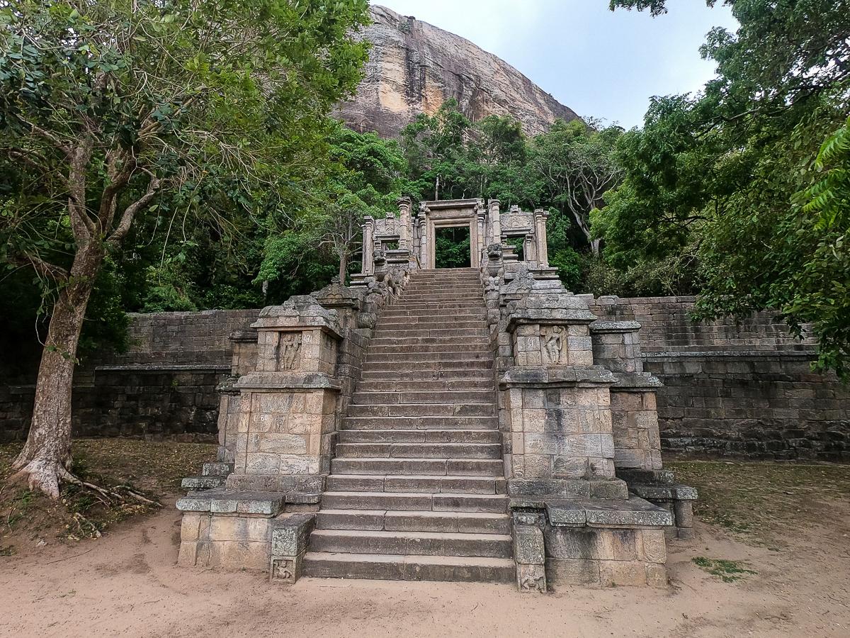 Sri Lanka Yapahuwa Escalier Temple
