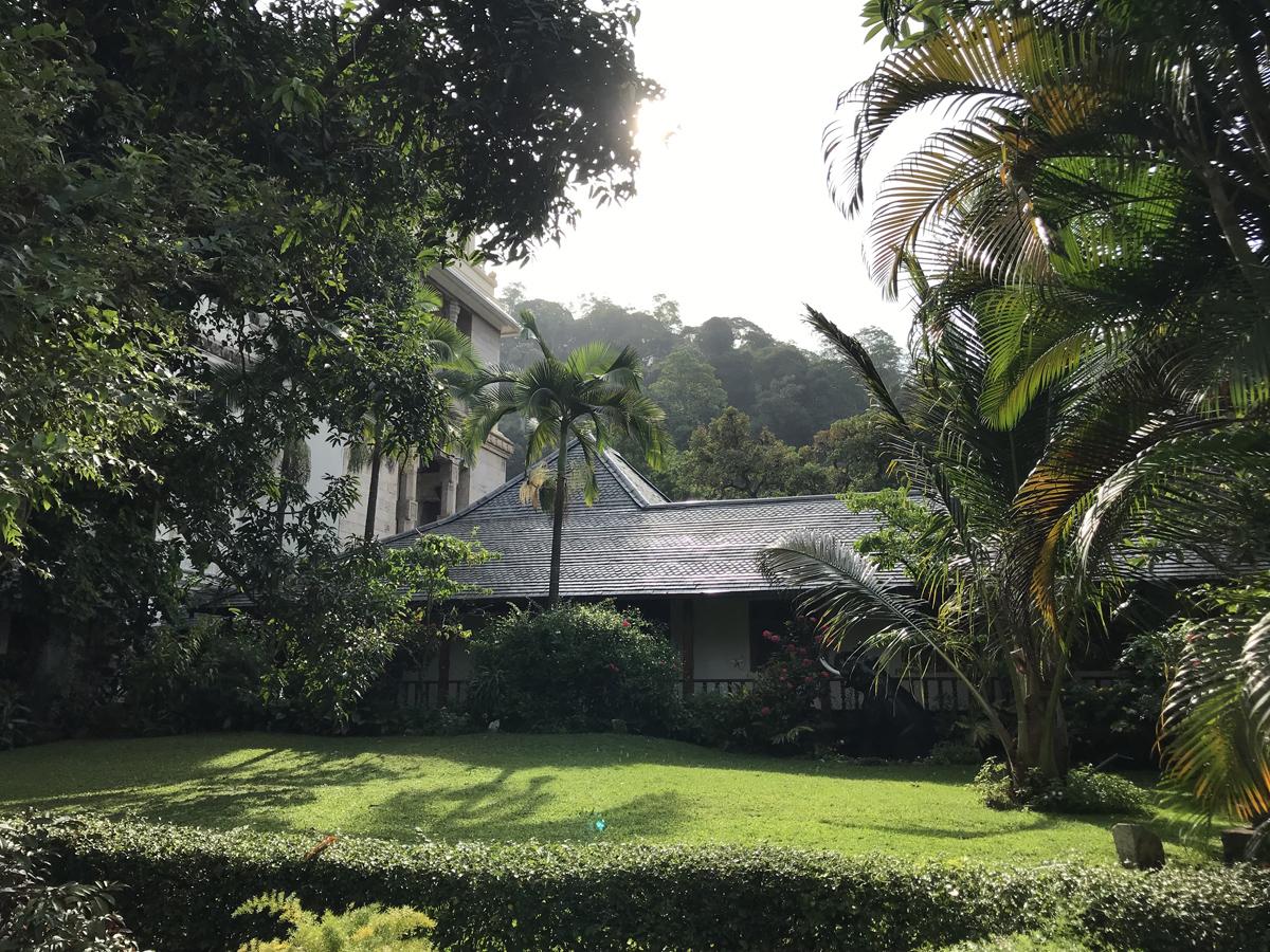 Sri Lanka Kandy Temple de la dent Jardin
