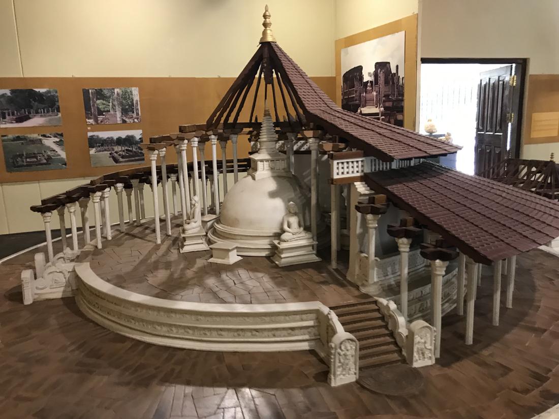 Sri Lanka Polonnaruwa Musée Maquette Vatadage