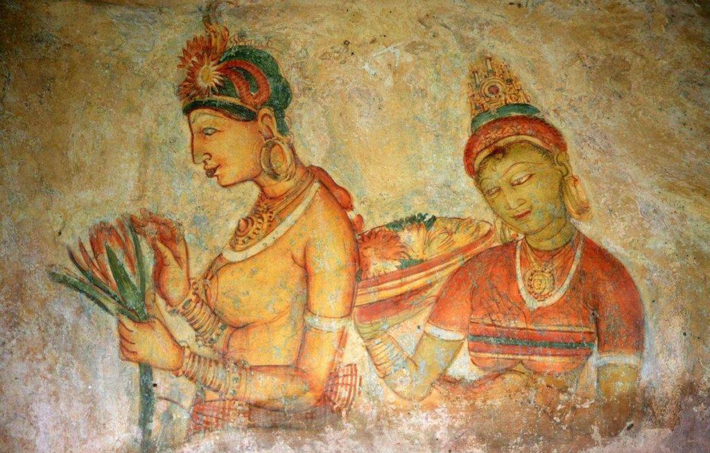 Sri Lanka Sigiriya Fresque femme