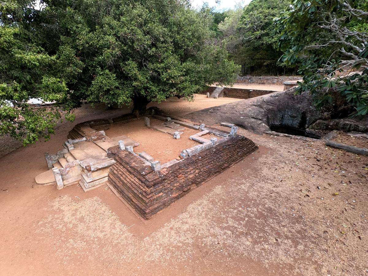 Sri Lanka Mihintale Kaludiya Monastère Ruines