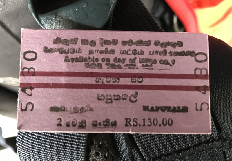 Sri Lanka Billet Train