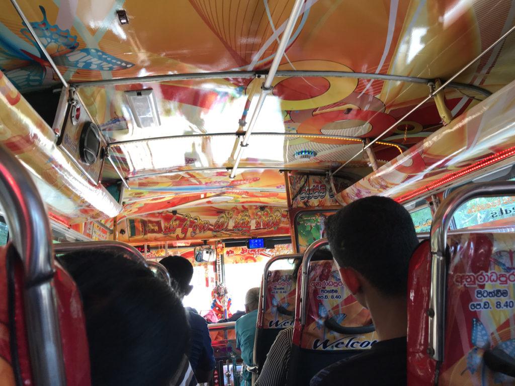 Sri Lanka Bus intérieur
