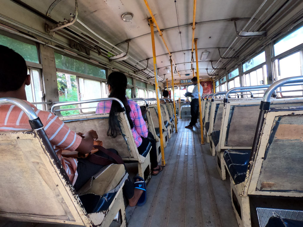 Sri Lanka Bus Siège intérieur