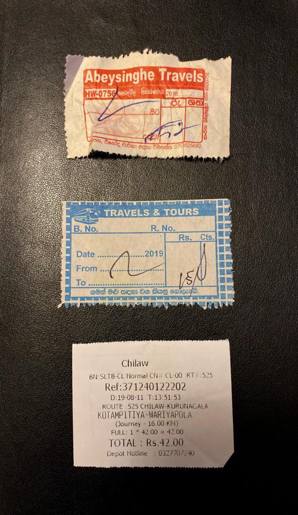 Sri Lanka Ticket Bus