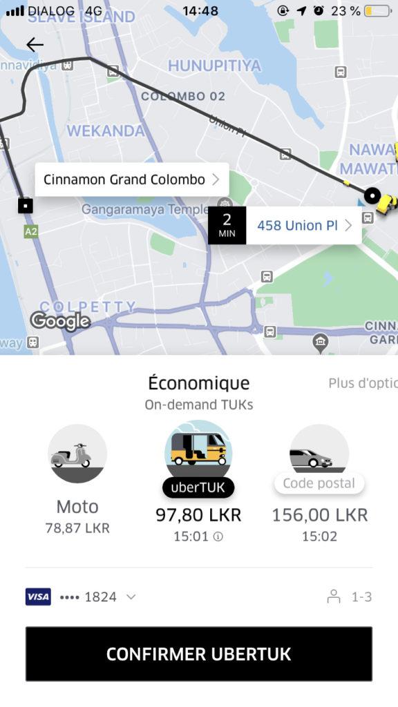Sri Lanka Tuk tuk Uber