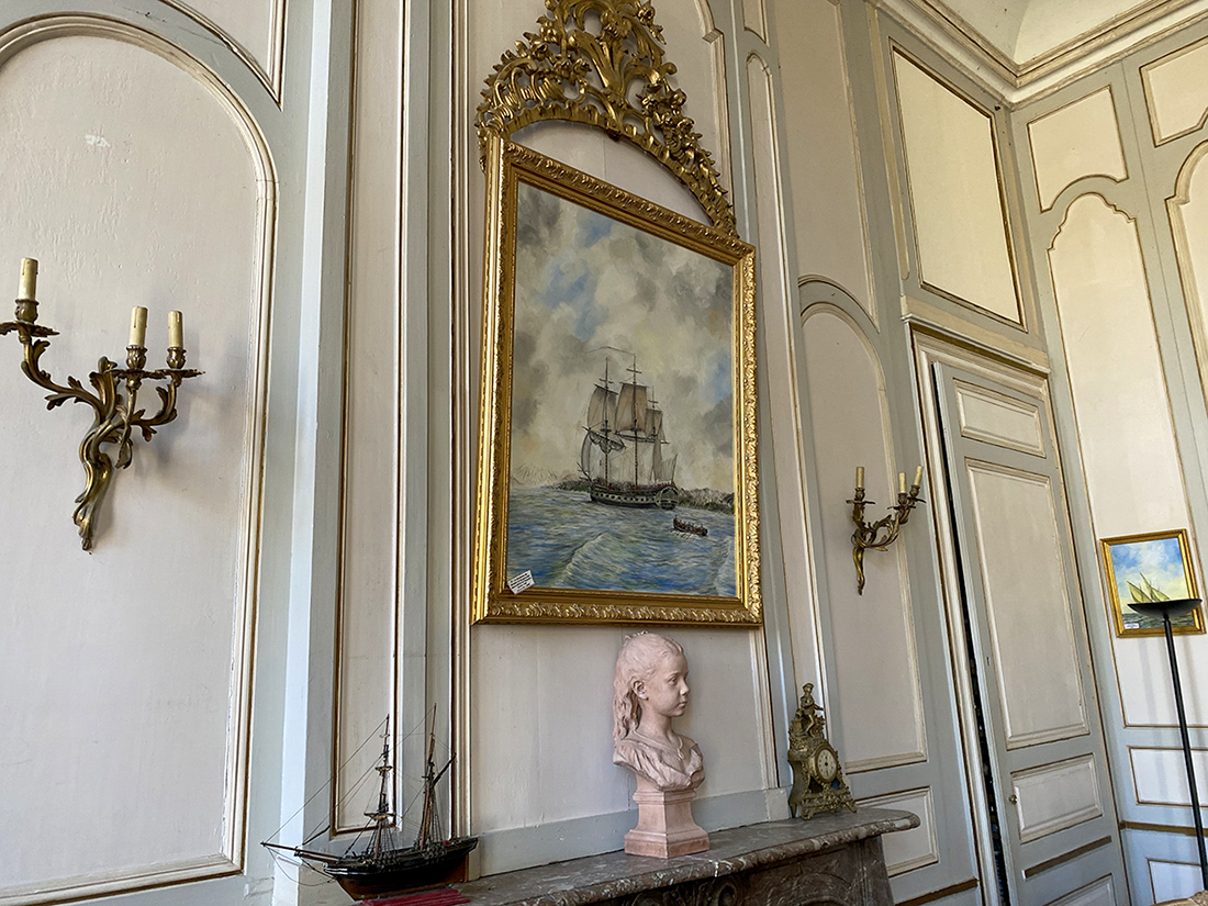 Intérieur du bureaux de l'hôtel Particulier de l'armateur Magon de La Landes
