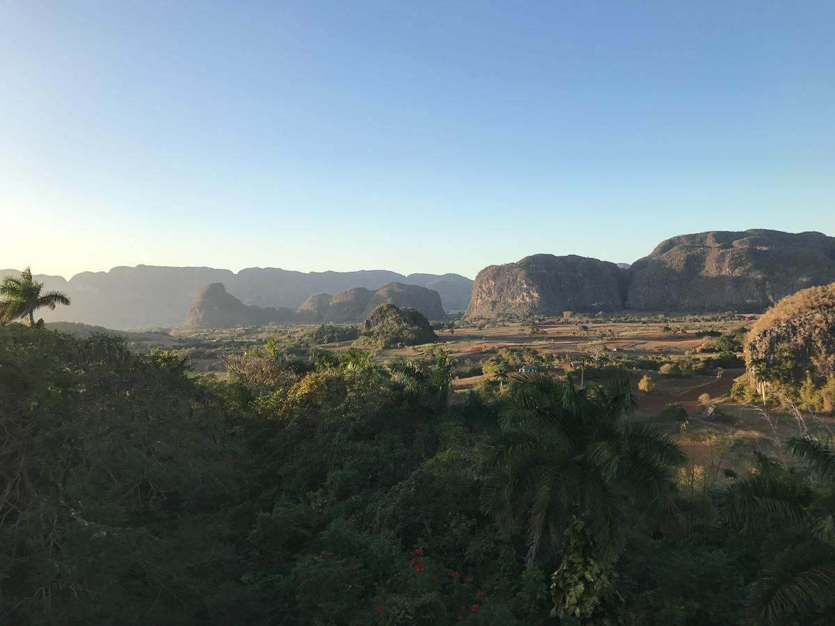 Vue sur la vallée depuis Las Jazmines